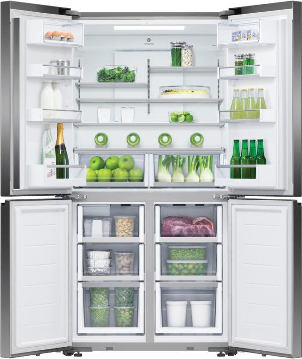 Fisher & Paykel Fisher & Paykel 538 Litre Quad Door Refrigerator - Black Glass 817210